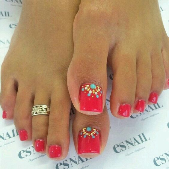 Spring Toe Nail Art Designs