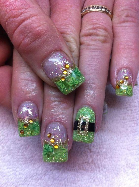 St Patricks Day Nail Art