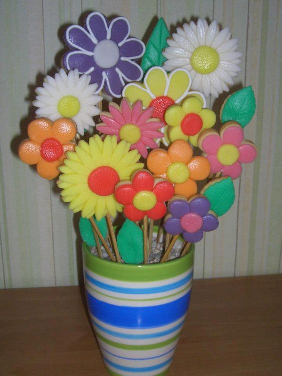 Easter Cookie Bouquets
