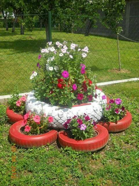Tire Planter Ideas