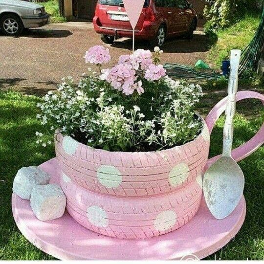 Tyre Planter Ideas